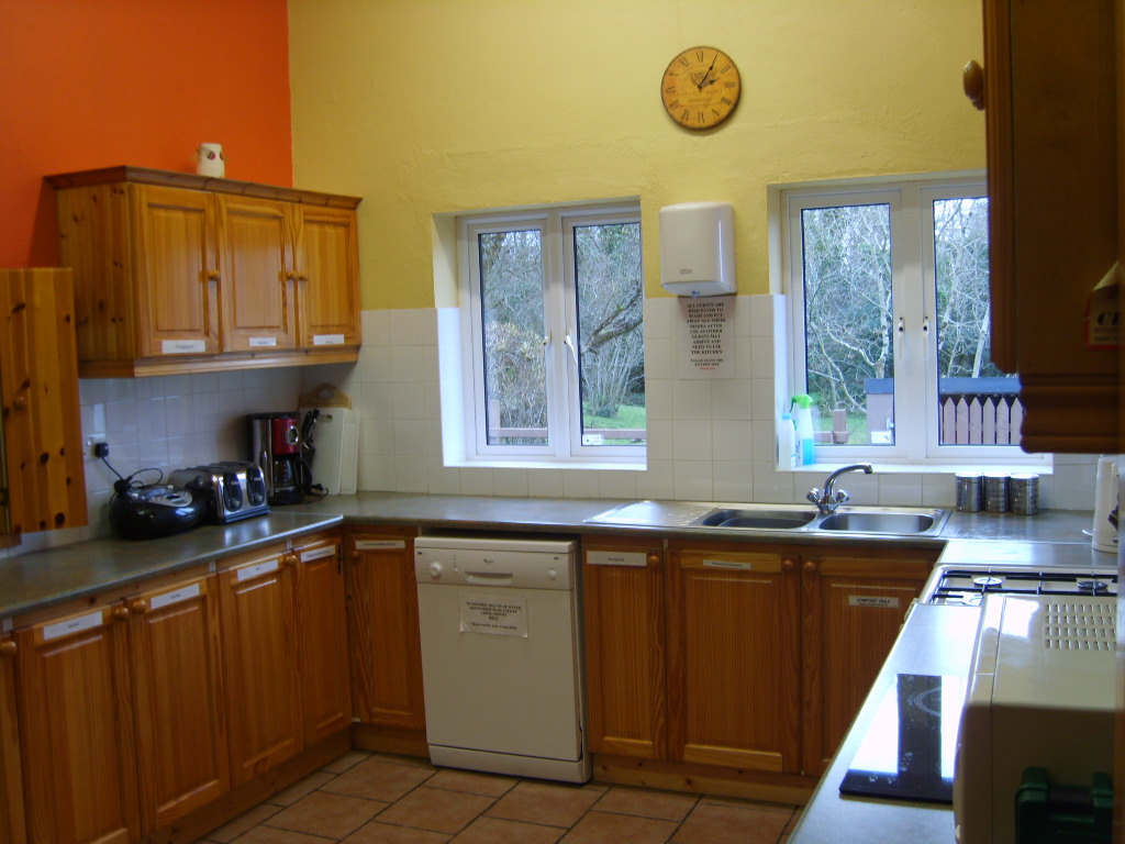 Fully equipped kitchen at Benwiskin Centre