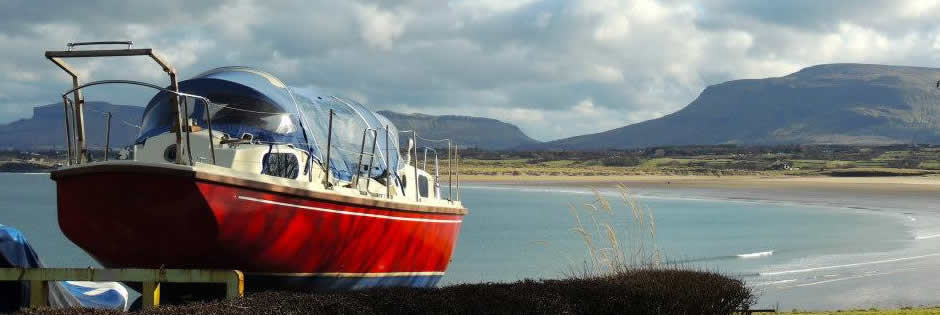Lomax Boat Yard overlooking Mullaghmore Beach