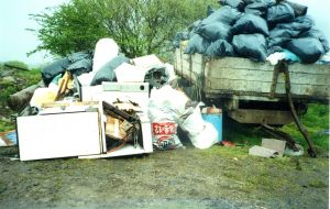 Rubbish Collected in 1992 around Ballintrillick